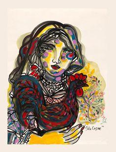 Gallo Cosne. Zaida del Rio. Fine Art Limited by ElArteCubano