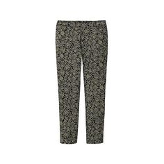 UNIQLO Women Celia Birtwell Cropped Pants ($20) ❤ liked on Polyvore