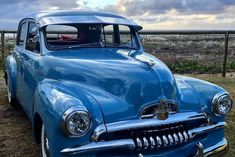 Pic of the week blue car gleaming - ABC News (Australian Broadcasting Corporation) Australian Muscle Cars, Aussie Muscle Cars, Fiat 850, Fiat Abarth, Big Girl Toys, Girls Toys, Holden Australia, Car Pictures, Car Pics