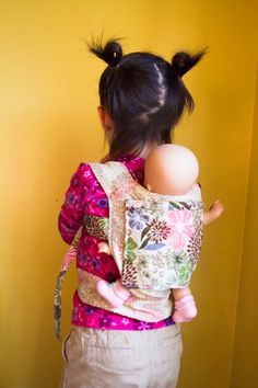 Cute Pattern for a baby doll carrier. I always wanted one of these and I still do lol.