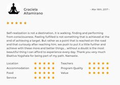 Another brilliant #review from a 200 hours #yoga teacher training student! Check out our official page for more #student reviews and #teacher feedback