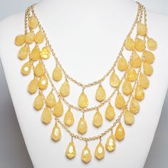 Jewelry New York, Handmade Jewelry New York, Jewelry NYC | KT Collection New York » Honey Drops Necklace