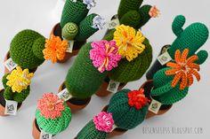 amigurumi crochet cactus en macetas de arcilla - cactus de ganchillo en ollas de barro - besenseless.blogspot.com