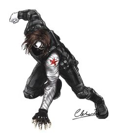 Quick sketch before sleep, hope I can see Bucky in my dream. Winter Soldier Cosplay, Winter Soldier Bucky, Dc Comics Vs Marvel, Marvel Fan Art, X Movies, Marvel Movies, Sebastian Stan, Captain America Films, James Barnes