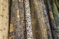 Fabrics from Morris & Co's latest Archive III collection Fabric Art, Fabric Design, London Design Week, Edward Burne Jones, Crafts Beautiful, Arts And Crafts Movement, William Morris, Soft Furnishings, The Dreamers