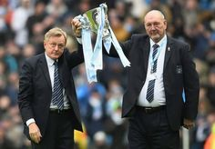 Joe Corrigan and Peter Barns are clearly thrilled at City winning The Capital One Cup!  #legends