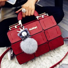 The new spring/summer 2016 women bag suture Boston bag inclined shoulder bag women leather handbags