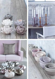 Villa Collection by decor8,. Candles. Lilac Chair. Interior / Home / Decor / Design / Furniture / Accessories / Contemporary / Transitional / Modern