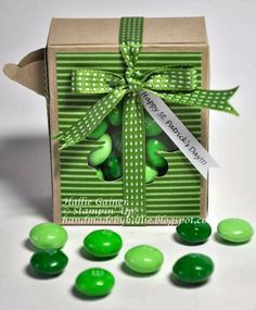 Stampin' Up! - Candy Pour Box - http://handmadebyhallie.blogspot.com/2014/03/7-days-to-st-pattys-2nd-day-pour-box.html
