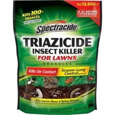 Spectracide Triazicide Insect Killer for Lawns 10 lb. Granules  The granules are supposed to work better.
