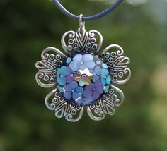 Tranquil Garden  K O Lampwork Pendant and 2 Necklaces by koregon, $45.00