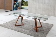 Maestro Extending Glass Dining Table