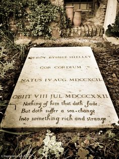 The grave of Percy Bysshe Shelley at the Non-Catholic Cemetery for Foreigners, Rome. - Photo © theplanetd.com