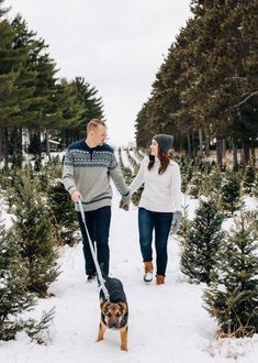 Outdoor, engagement photo idea for winter - couple at tree farm with dog - Find a photographer in your city on WeddingWire! {Carly Mac Photography} Winter Engagement Photos, Wedding Engagement, Wedding Day, Photography Pricing, Real Couples, Minneapolis, Wedding Vendors, Big Day, Love Story