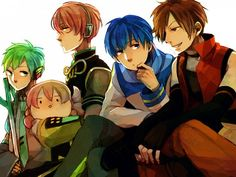 Vocaloid - Kaito, Mikuo, Luki & Tako, and Meito