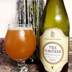 The Amber Tre Fontane Trappist beer, before approval as genuine Trappist Beer