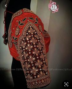 Blouse Patterns, Blouse Designs, Hand Work Blouse Design, Every Girl, Bridal, Red, Fashion, Moda, Fashion Styles