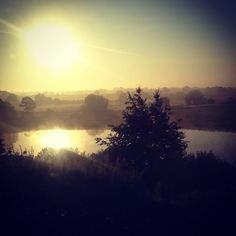 Sunrise from the train by Andy Marshall @Andy Marshall