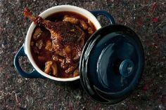 Duck with Chestnuts Recipe - A Recipe for Braised Duck Legs Recipes Using Duck, Duck Leg Recipes, Wild Game Recipes, Meat Recipes, Chicken Recipes, Dinner Recipes, Cooking Recipes, Pheasant Recipes, Braised Duck