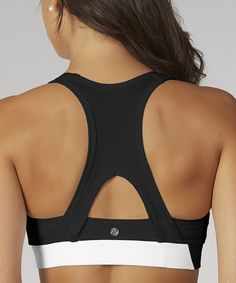Love this Black Bally X-Back Sports Bra