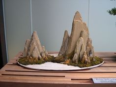 Japanese Miniature Rock Scene by SideShowMom, via Flickr