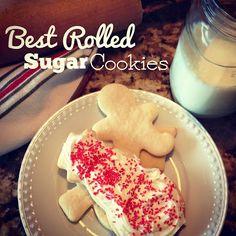 Handmade by Hilani: Best Rolled Sugar Cookie Recipe