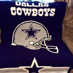 Dallas Cowboys Afghan Crochet Ripple Pattern