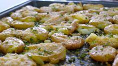 Crispy Parmesan Squashed Potatoes