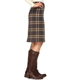 Wool Andover Skirt from LL Bean | Problem: there are 5 patterns & I like them all