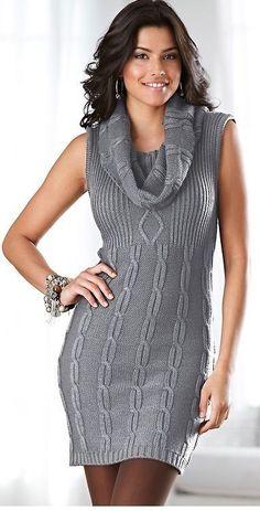 Hand Knit Women dress sweater coat aran jacket women made to order hand knitted women's dress sweater cardigan pullover clothing handmade Knit Fashion, Fashion Outfits, Sweater Fashion, Knit Dress, Dress Skirt, Col Crochet, Rajputi Dress, Sweater Coats, Sweater Dresses
