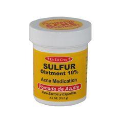 Pomada De Azufre Sulfur Ointment 2.6 Oz Acne « Holiday Adds