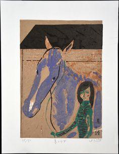 A Horse and Girl by Fukami Gashu