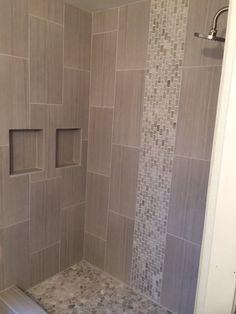 Mixed Quartz Mini Stone Subway Tile Shower