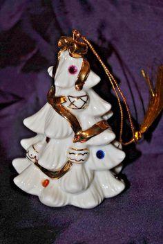Lenox China THE JEWELED CHRISTMAS TREE Ornament 2001 LIMITED EDITION EUC
