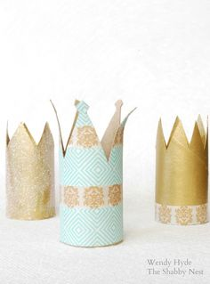 Would be so cute for Kate's bday with dolls?? Toilet Paper Roll Crowns