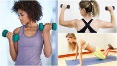 Maak een einde aan slappe armen - Gezonder Leven Academia, Biceps, Squats, Toilet, Pictures, Arm Workouts, Healthy Weight, Home Workouts, Fat