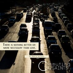 Spend less time stressing and more time loving. #CommutingwiththeSaints