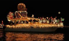 Newport Landing Cruises - Newport Beach: 1 Junior, 1 or 2 Adult Tickets to Newport Beach Christmas Boat Parade & Holiday Lights Cruises (Up to 53% Off)