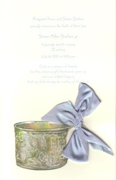Odd Balls Invitations :: Product Information :: BABY CUP - BLUE