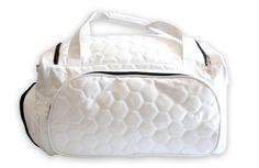 Zumer Sport Soccer Duffel Bag Made From Real Soccer Material #zumersport #soccerduffelbag #soccer #duffel #duffelbag