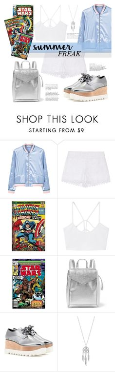 """Summer Freak"" by juhh ❤ liked on Polyvore featuring MANGO, Tory Burch, Marvel, Loeffler Randall, STELLA McCARTNEY, Lucky Brand, Summer, mango, StellaMcCartney and freak"