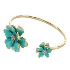 Flower Ends Cuff Bangle   Fahsye Fashion Accessories Boutique