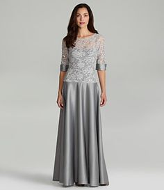 JS Collections Lace Gown | Dillard's Mobile