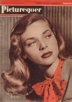 #papercraft  #MagazineMondays #papercrafting inspiration challenge magazine  Picturegoer Magazine Cover - Lauren Bacall 1945 | Flickr