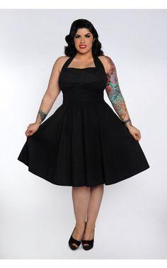 Fun 'n' Flirty Plus Size Dress in Black