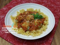 Mozzarella Chicken Stuffed Meatballs in Tomato Sauce Recipe