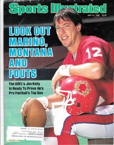 Football Hall of Famer and legendary Buffalo Bills quarterback Jim Kelly has personally hand-signed this Sports Illustrated magazine. American Athletes, American Sports, American Football, Buffalo Bills Football, Football Tops, Football Stuff, Football Memes, Sport Football, College Football