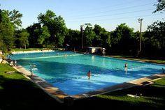 Deep Eddy Pool, Austin, TX. Spring fed fresh water pool always 68 degrees!
