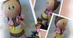Mais um lindo dia começando...E as artes por aqui não param! Essa é a Bianca,mais uma bonequinha que iremos fazer no curso virtual de ...