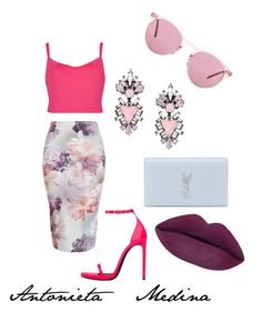 """""""Untitled #109"""" by antoo-xoxo on Polyvore featuring Ted Baker, Yves Saint Laurent, Oliver Peoples and Erickson Beamon"""